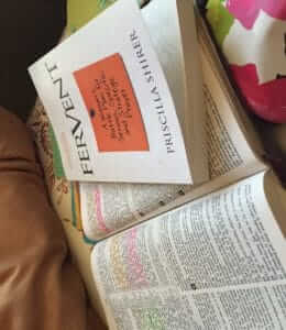 My Bible, a book, and my rainbow gel pens
